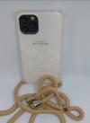 """Θήκη Σιλικόνης TPU με Μπεζ Neck Cord για Iphone 11 Pro 5.8"""" - Διάφανη (ΟΕΜ)"""