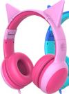 Παιδικά Ακουστικά ενσυρματα Ροζ Με Προστασία Έντασης GS-E61V (Gorsun)