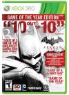 XBOX 360 GAME - Batman: Arkham City Game of the Year Edition