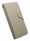 Δερμάτινη Stand Θήκη/Πορτοφόλι για Alcatel One Touch Pop C5 (OT-5036D) Λευκό (OEM)