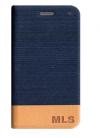Αυθεντική Θήκη δερματίνη πορτοφόλι  MLS iQTalk Top 4G Μπλε