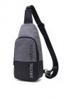 ARCTIC HUNTER τσάντα Crossbody (χιαστή) XB0058-DG, αδιάβροχη, σκούρο γκρ