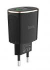 Φορτιστής Hoco Τοιχου C60A Prestige EU ταχειας φορτισης με διπλο USB Μαύρο