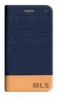 ΔΕΡΜΑΤΙΝΗ BOOK MLS Verge 4G  Αυθεντική Μπλε