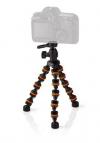 Nedis Τρίποδο για Κάμερες, Κινητά, Actioncam με Ευλύγιστα  Πόδια 26 cm πορτοκαλι-μαυρο