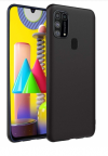 Θήκη ματ tpu σιλικονη μαλακή πίσω κάλυμμα για Samsung Galaxy M31 - μαυρο χρωμα  (oem)