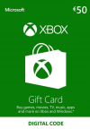 Microsoft Xbox Live 50 Euro Gift Card - (Serial Only)