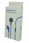 Μπλέ Stereo Earphones and MIC Handsfree με ένταση για iPhone 3GS & 4 / 4S (OEM)