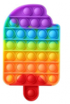 Pop It Παιχνίδι  ΑντιΣτρες - Bubble ουρανιο-τοξο Παγωτο Ξυλακι  (oem)(bulk)
