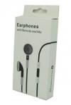Μαύρα Stereo Earphones and MIC Handsfree με ένταση για iPhone 3GS & 4 / 4S (OEM)