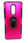 Θήκη πλάτης με στήριγμα i-Crystal back case with stand για το Xiaomi NOTE 4 Φουξια/Μαύρο (OEM)