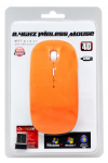 Wireless Optical Usb Mouse Mobilis A100 3 Πλήκτρων Πορτοκαλί