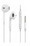 Hands Free Hoco M1 Earphones Stereo 3.5 mm Λευκά για Apple με Μικρόφωνο