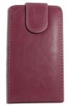 Δερμάτινη Θήκη Flip για Alcatel One Touch T΄POP OT4010D Σκούρο Ρόζ (ΟΕΜ)