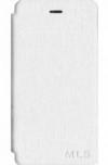 Αυθεντικη MLS WAVE 4G - Δερμάτινη Θήκη Πορτοφόλι Λευκό (OEM)