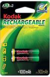 Μπαταρίες Kodak AAA 1000mAh επαναφορτιζομενες / 1.2 Volt Blister (2 Τεμάχια )