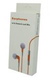 Πορτοκαλί Stereo Earphones and MIC Handsfree τύπου ψείρες με ένταση για iPhone 3GS & 4 / 4S MB770FE/BO (OEM)