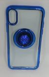 Θήκη TPU με γυροσκόπιο δακτύλου τύπου finger spinner 2 σε 1 και ring για Iphone X - Μπλε (OEM)