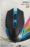 JIEXIN 605 ασύρματο gaming mouse ΜΠΛΕ-ΜΑΥΡΟ