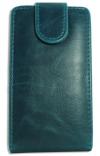 Δερμάτινη Θήκη Flip για Alcatel One Touch T΄POP OT4010D Τυρκουάζ (ΟΕΜ)
