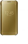 Θήκη Clear View για Samsung Galaxy J3 (2018) ΧΡΥΣΟ (OEM)
