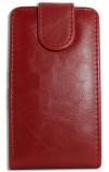 Δερμάτινη Θήκη Flip για Alcatel One Touch T΄POP OT4010D Κόκκινη (ΟΕΜ)