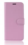Δερμάτινη Θήκη Πορτοφόλι Με Πίσω Πλαστικό Κάλυμμα για Vodafone Smart Prime 7 VFD600 ΡΟΖ