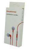 Κόκκινα Stereo Earphones and MIC Handsfree τύπου ψείρες με ένταση για iPhone 3GS & 4 / 4S MB770FE/BR (OEM)