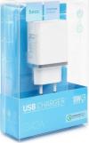 Φορτιστής Ταξιδίου Hoco C42A Vast Power Single USB QC3.0 18W - Άσπρο