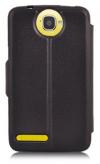 Δερμάτινη Stand Θήκη/S-View για Alcatel OneTouch Scribe Easy 8000D Μαύρη (OEM)
