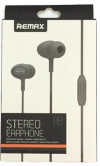 REMAX STEREO EARPHONE ΜΑΥΡΑ