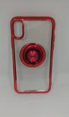 Θήκη ΤΡU με γυροσκόπιο δακτύλου τύπου finger spinner 2 σε 1 και ring για Iphone X - Κόκκινο (OEM)