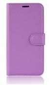 Δερμάτινη Θήκη Πορτοφόλι Με Πίσω Πλαστικό Κάλυμμα για Δερμάτινη Θήκη Πορτοφόλι Με Πίσω Πλαστικό Κάλυμμα για Vodafone Smart Prime 7 VFD600 μωβ ανοιχτο