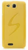 Θήκη TPU GEL για Alcatel One Touch Idol Ultra (OT-6033X) Κίτρινο (OEM)