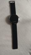 LED Pολόι Στρογγυλό Σιλικόνης Βραχιολάκι Unisex Μαύρο με ασημί περίγραμμα(OEM)