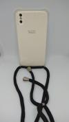 Θήκη Σιλικόνης TPU με Μαύρο Neck Cord για Iphone X - Διάφανη (ΟΕΜ)
