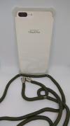 Θήκη Σιλικόνης TPU με Σκούρο Πράσινο Neck Cord για Iphone 7 Plus / 8 Plus - Διάφανη (ΟΕΜ)