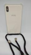 Θήκη Σιλικόνης TPU με Μαύρο Neck Cord για Iphone Xs Max - Διάφανη (ΟΕΜ)