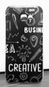 Θήκη TPU GEL για Samsung Galaxy A7 (2017) A720F Διαφανής & business creative design (ΟΕΜ)