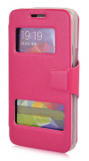 Δερμάτινη Stand Θήκη/S-View για Alcatel OneTouch Scribe Easy 8000D Φούξια (OEM)