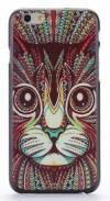 "Apple iPhone 6 4.7"" - Θήκη Πλαστικό Πίσω Κάλυμμα Aztec Animal Cute Cat Black (ΟΕΜ)"
