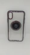 Θήκη ΤΡU με γυροσκόπιο δακτύλου τύπου finger spinner 2 σε 1 και ring για Iphone X - Μαύρο (OEM)