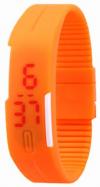 LED Pολόι Σιλικόνης Βραχιολάκι Unisex Πορτοκαλί (OEM)