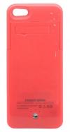 Μπαταρία Ενσωματωμένη σε Θήκη Faceplate Apple iPhone 5C Ροζ 2500mAh