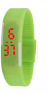 LED Pολόι Σιλικόνης Βραχιολάκι Unisex Πράσινο (OEM)