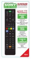 Πολυτηλεχειριστήριο Superior για όλες τις Sony Lcd Led Plasma Smart χωρίς κωδικούς Έτοιμο για χρήση