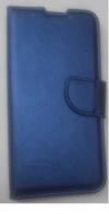 Samsung Galaxy A40 A405F Δερμάτινη Stand Θήκη Πορτοφόλι Μεταλλικο Μπλε (oem)