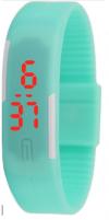 LED Pολόι Σιλικόνης Βραχιολάκι Unisex Τυρκουαζ Ανοιχτο (OEM)