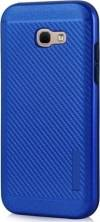 POWERTECH Θήκη Carbon Armor Hybrid για Samsung Galaxy A3 2017 Μπλε