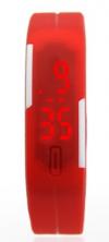 LED Pολόι Σιλικόνης Βραχιολάκι Unisex Κοκκινο (OEM)